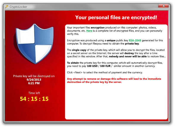 Cryptolocker Data Recovery